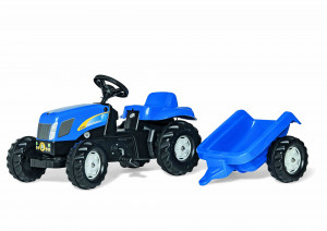 rolly toys - rollyKid New Holland T 7040 blau inkl. Anhänger