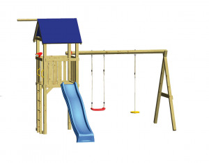 WINNETOO Spielturm Set 5 SWING - Holz
