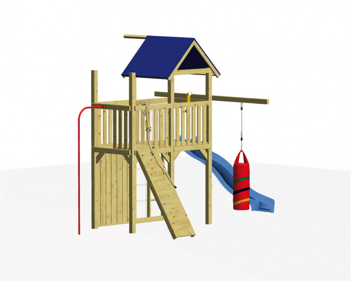 WINNETOO Spielturm Set 3 FIREMAN - Holz