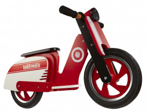 Scooter Retro - Red Stripe -  Laufrad von Kiddimoto