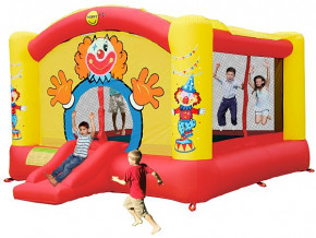 Hüpfburg HappyHop Super Clown 18,5 m² Art. 9014N inkl. Gebläse W4EN