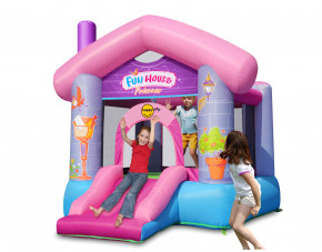 Hüpfburg HappyHop Fun House Princess 9215 inkl. Gebläse SW-1,5E