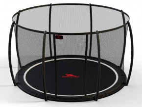 Inground Trampolin Flat Level Ø300 inkl. Sicherheitsnetz von Dinocars - DTGR-10-SET-FL